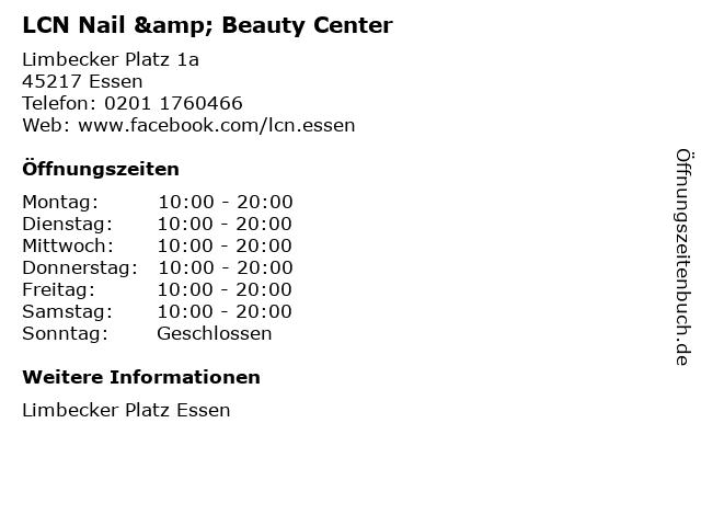 LCN Nail & Beauty Center in Essen: Adresse und Öffnungszeiten