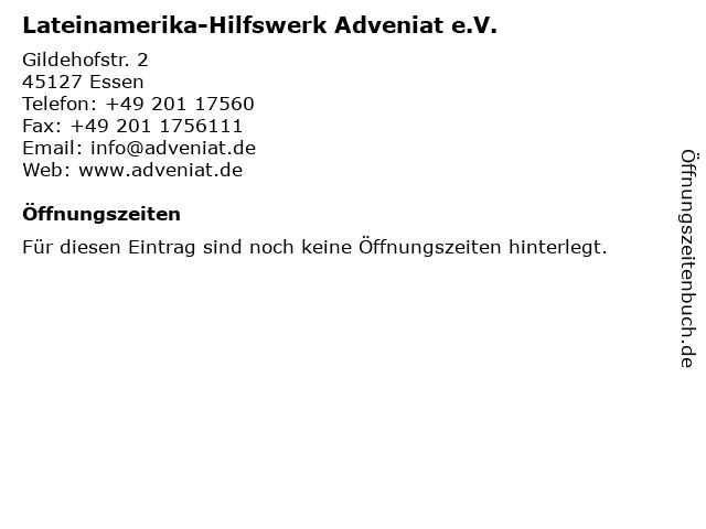 Lateinamerika-Hilfswerk Adveniat e.V. in Essen: Adresse und Öffnungszeiten