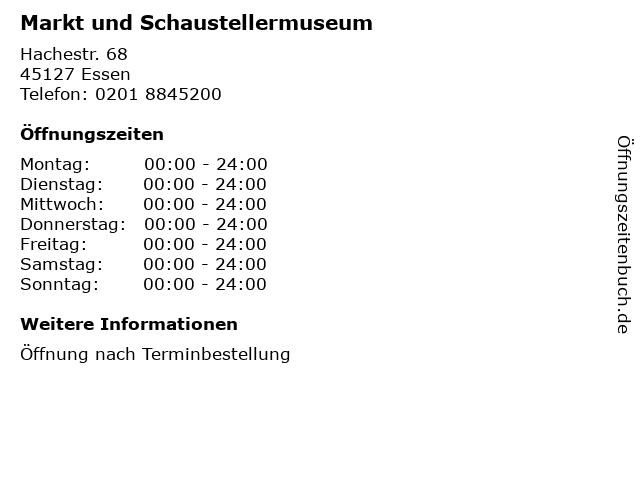 Markt und Schaustellermuseum in Essen: Adresse und Öffnungszeiten