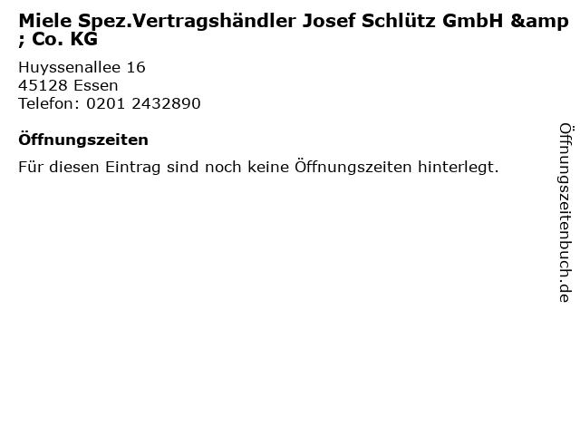 Miele Spez.Vertragshändler Josef Schlütz GmbH & Co. KG in Essen: Adresse und Öffnungszeiten