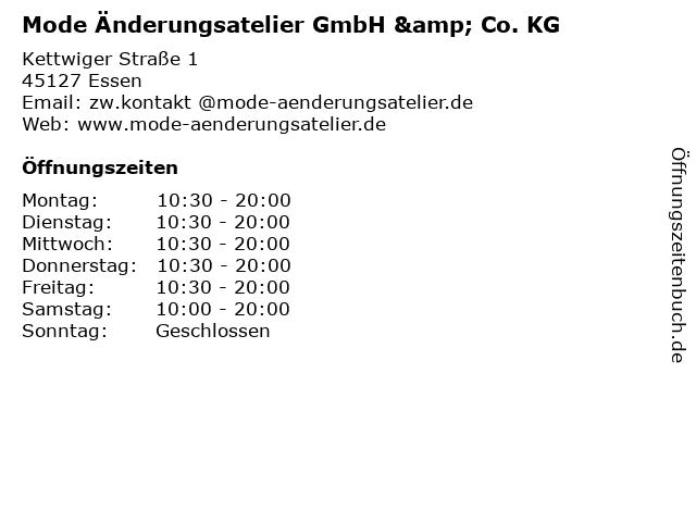 Mode Änderungsatelier GmbH & Co. KG in Essen: Adresse und Öffnungszeiten