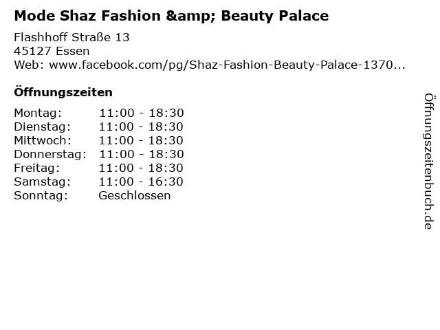 Mode Shaz Fashion & Beauty Palace in Essen: Adresse und Öffnungszeiten