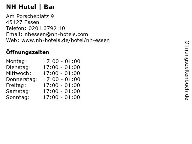 NH Hotel | Bar in Essen: Adresse und Öffnungszeiten