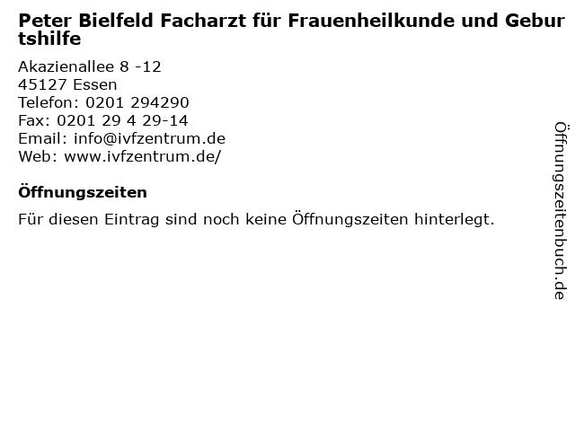 Peter Bielfeld Facharzt für Frauenheilkunde und Geburtshilfe in Essen: Adresse und Öffnungszeiten