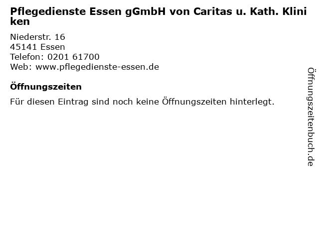 Pflegedienste Essen gGmbH von Caritas u. Kath. Kliniken in Essen: Adresse und Öffnungszeiten