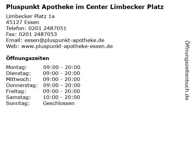 Pluspunkt Apotheke im Center Limbecker Platz in Essen: Adresse und Öffnungszeiten