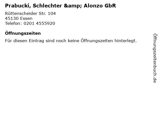 Prabucki, Schlechter & Alonzo GbR in Essen: Adresse und Öffnungszeiten