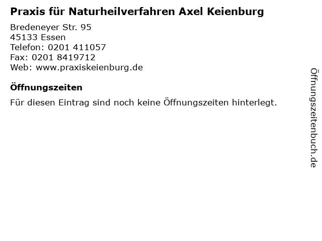 Praxis für Naturheilverfahren Axel Keienburg in Essen: Adresse und Öffnungszeiten