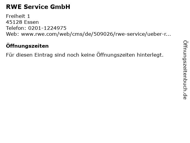 RWE Service GmbH in Essen: Adresse und Öffnungszeiten
