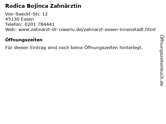 Rodica Bojinca Zahnärztin in Essen: Adresse und Öffnungszeiten