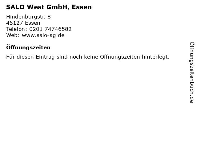 SALO West GmbH, Essen in Essen: Adresse und Öffnungszeiten