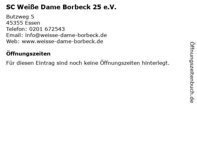 SC Weiße Dame Borbeck 25 e.V. in Essen: Adresse und Öffnungszeiten
