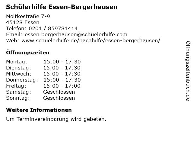 Schülerhilfe Essen-Bergerhausen in Essen: Adresse und Öffnungszeiten