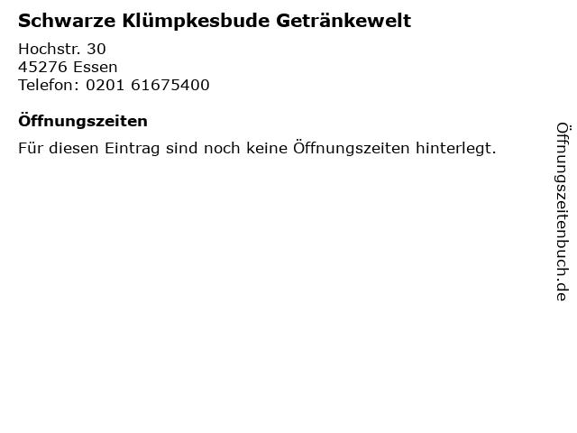 Waltraud Schwarze Klümpkesbude Getränke in Essen: Adresse und Öffnungszeiten