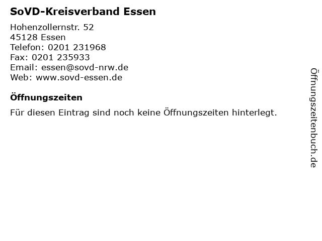 SoVD-Kreisverband Essen in Essen: Adresse und Öffnungszeiten