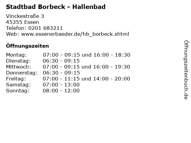 Stadtbad Borbeck - Hallenbad in Essen: Adresse und Öffnungszeiten