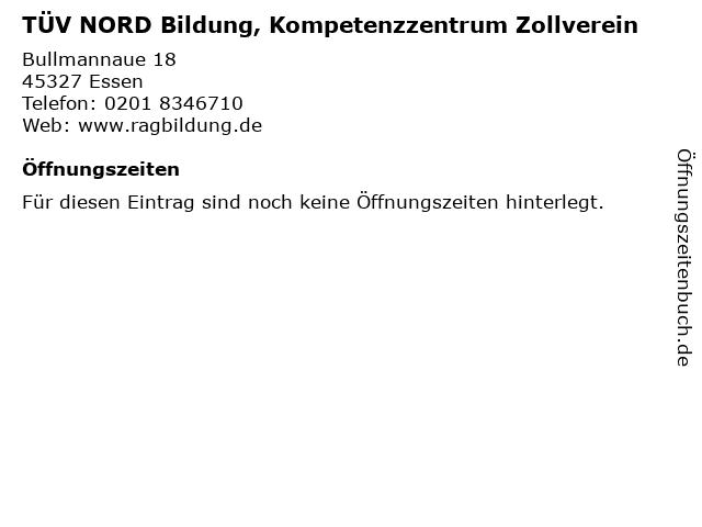 TÜV NORD Bildung, Kompetenzzentrum Zollverein in Essen: Adresse und Öffnungszeiten