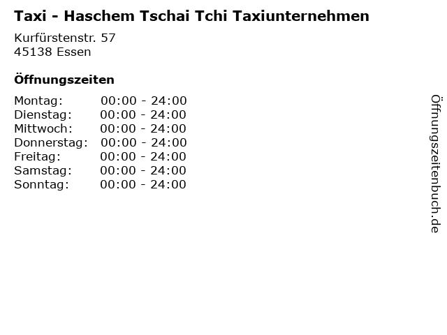 Taxi - Haschem Tschai Tchi Taxiunternehmen in Essen: Adresse und Öffnungszeiten