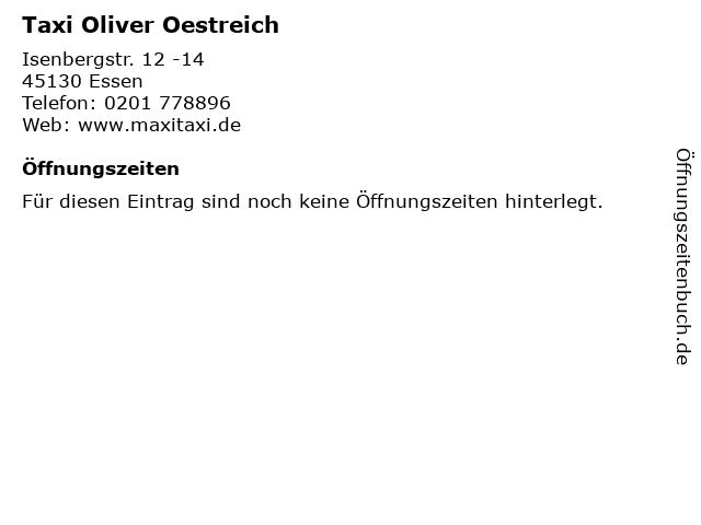 Taxi Oliver Oestreich in Essen: Adresse und Öffnungszeiten