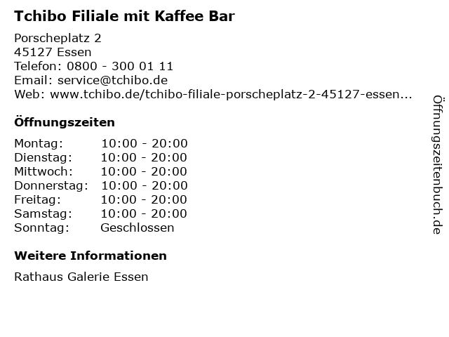 Tchibo GmbH in Essen: Adresse und Öffnungszeiten