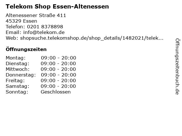 Telekom Shop Essen-Altenessen in Essen: Adresse und Öffnungszeiten