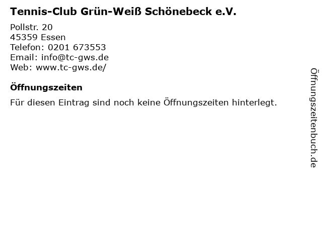 Tennis-Club Grün-Weiß Schönebeck e.V. in Essen: Adresse und Öffnungszeiten