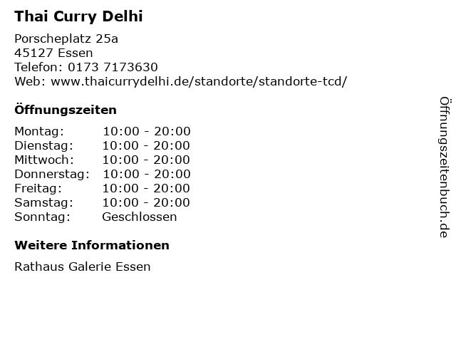 Thai Curry Delhi in Essen: Adresse und Öffnungszeiten