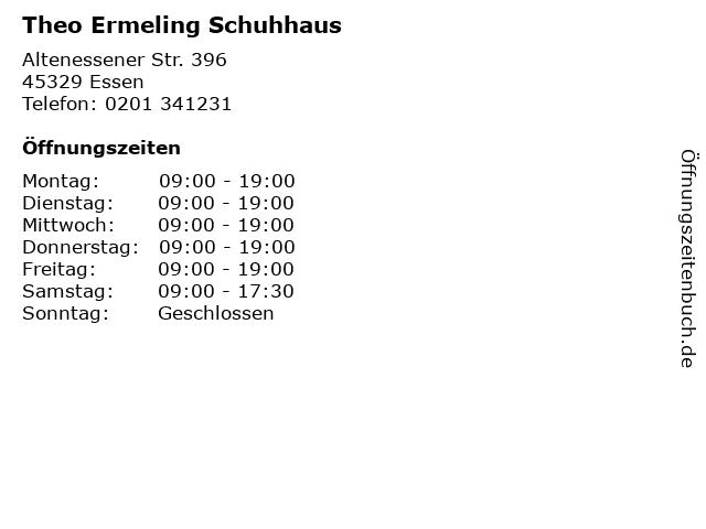 Theo Ermeling Schuhhaus in Essen: Adresse und Öffnungszeiten
