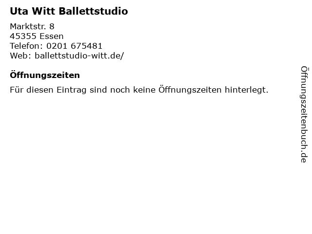 Uta Witt Ballettstudio in Essen: Adresse und Öffnungszeiten