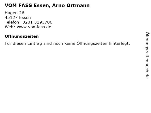 VOM FASS Essen, Arno Ortmann in Essen: Adresse und Öffnungszeiten