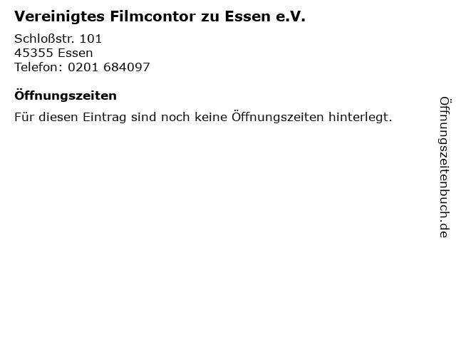 Vereinigtes Filmcontor zu Essen e.V. in Essen: Adresse und Öffnungszeiten
