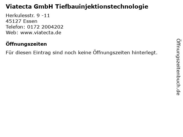 Viatecta GmbH Tiefbauinjektionstechnologie in Essen: Adresse und Öffnungszeiten