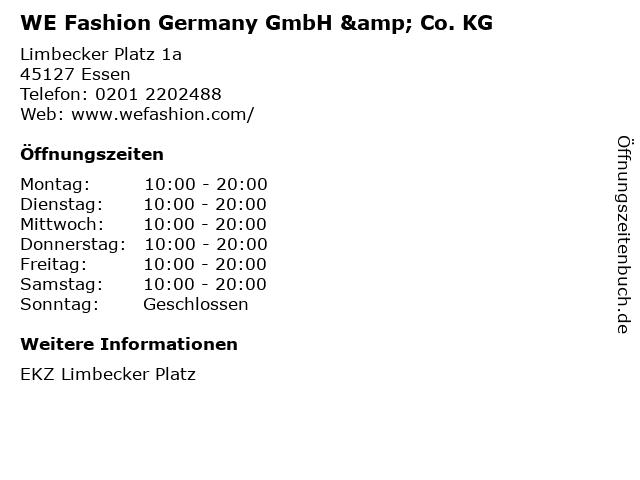 WE Fashion Germany GmbH & Co. KG in Essen: Adresse und Öffnungszeiten