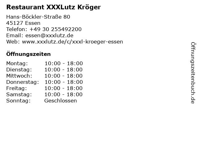 ᐅ öffnungszeiten Xxxl Restaurant Essen Hans Böckler Straße 80