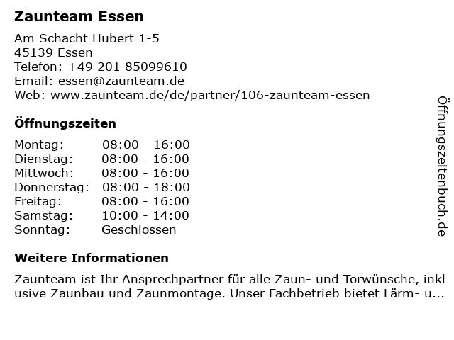 Zaunteam Essen Diwo Zaunsysteme GmbH (Zaun- und Tormontagen, Materialverkauf, Beratung nach telefonischer Vereinbarung) in Essen: Adresse und Öffnungszeiten