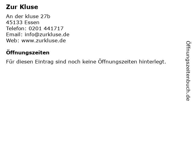 Zur Kluse in Essen: Adresse und Öffnungszeiten