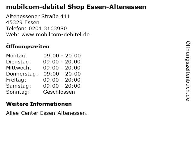 mobilcom-debitel Shop Essen-Altenessen in Essen: Adresse und Öffnungszeiten