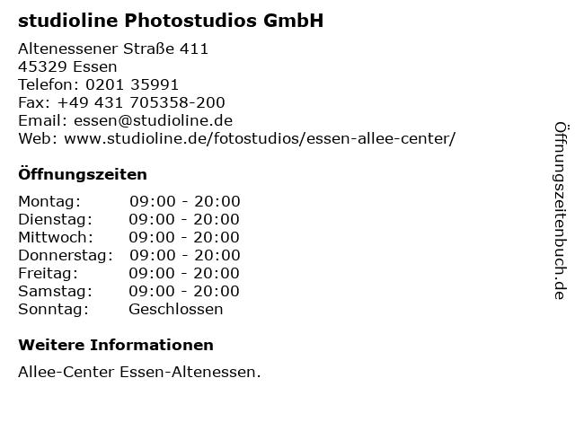 studioline Photostudios GmbH in Essen: Adresse und Öffnungszeiten