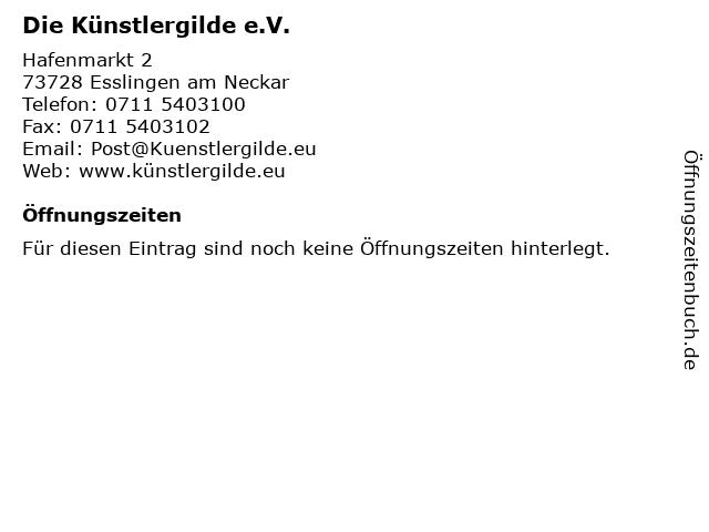 Die Künstlergilde e.V. in Esslingen am Neckar: Adresse und Öffnungszeiten