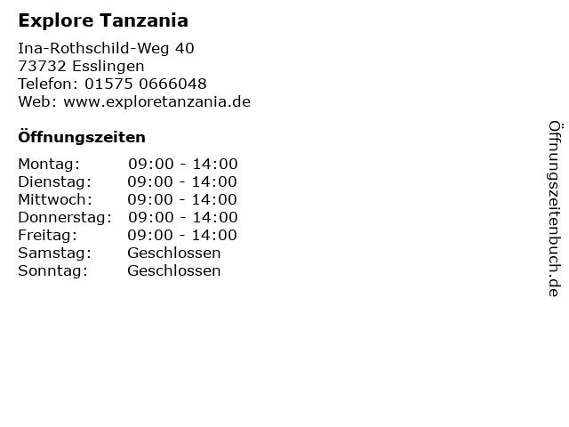 Explore Tanzania in Esslingen: Adresse und Öffnungszeiten