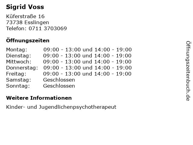 Sigrid Voss in Esslingen: Adresse und Öffnungszeiten