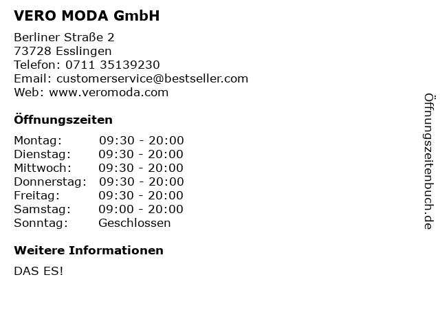 VERO MODA GmbH in Esslingen: Adresse und Öffnungszeiten