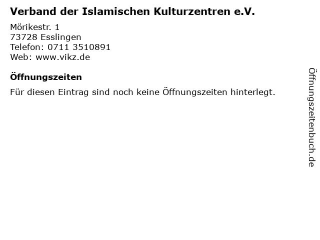 Verband der Islamischen Kulturzentren e.V. in Esslingen: Adresse und Öffnungszeiten