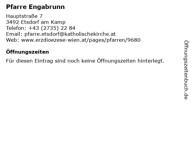 Pfarre Engabrunn in Etsdorf am Kamp: Adresse und Öffnungszeiten