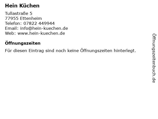 ᐅ Offnungszeiten Hein Kuchen Tullastrasse 5 In Ettenheim