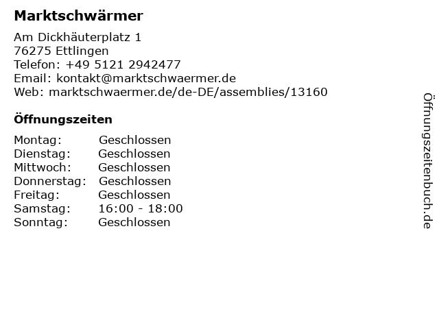 Marktschwärmer in Ettlingen: Adresse und Öffnungszeiten