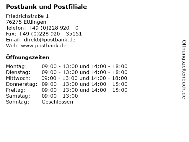 Postfiliale Ettlingen