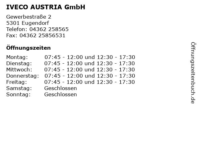 IVECO AUSTRIA GmbH in Eugendorf: Adresse und Öffnungszeiten