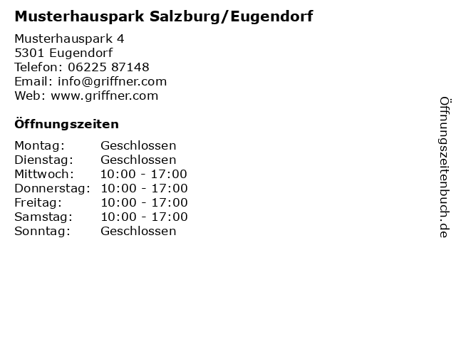 ᐅ öffnungszeiten Musterhauspark Salzburgeugendorf