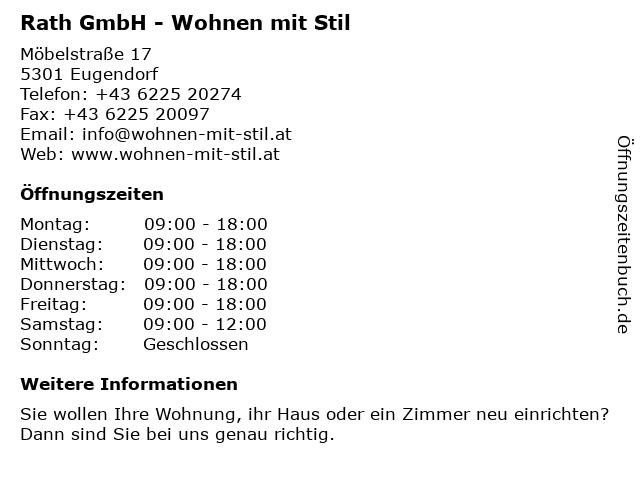 Rath GmbH - Wohnen mit Stil in Eugendorf: Adresse und Öffnungszeiten